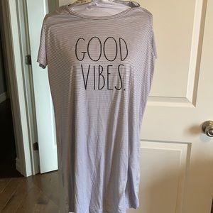 Rae Dunn Good Vibes nightshirt